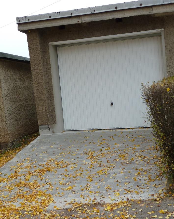 Garage und Zufahrt, nachher